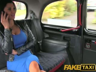 FakeTaxi brunette with big tits fucked hard in the taxi