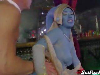 Hot mercenary and 2 sexy Jedi Generals fucked in wild orgy