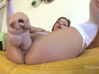 Ashlynn leigh mengisap itu penis buatan dari using di dia alat kelamin wanita
