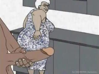 Black Granny Loving Anal Animation Cartoon: Free Porn d6