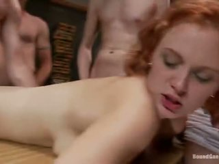 group sex, kissing, redhead