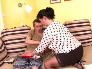 Taboo Posh Mature Mom Seduce Young Son, Porn b5
