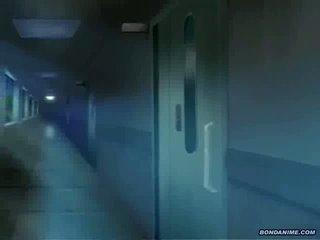 Ο leggy νοσοκόμα gets πρωκτός και μουνί toyed