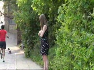 Cute british teen laura is hothorny and in public