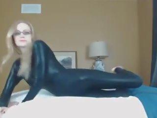 ideaal lingerie, latex porno, meest catsuit scène