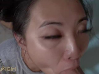18 Year Old Asian Girl with GREEN Eyes THROATFUCKED POV