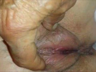 close up, granny, fingering