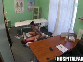 Patient Gets Fucked And Swallows Her Doctors Cum