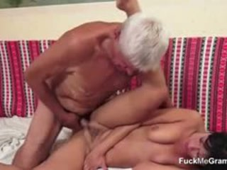 Teen Gives Grandpa Blowjob