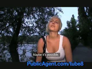Publicagent ควย การดูด สั้น หญิง ด้วย บลอนด์ ผม