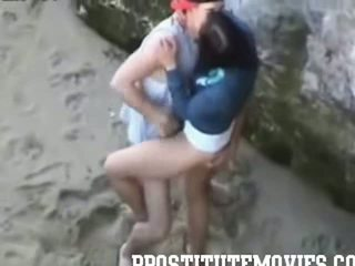 Hot Girl gives a blowjob in public