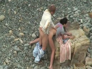Horny Lovers Having A Quickie Outdoor Spy Sex