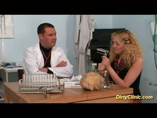 Blonde gets doctor's dick
