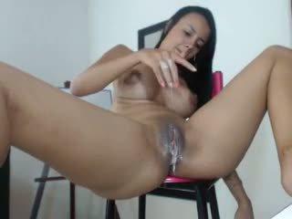 Hot latina girl squirt a lot