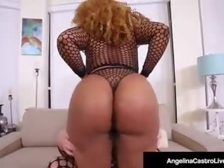 Phat Ass Cuban Angelina Castro Fucks Black BBW Yummy...