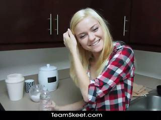 Shesnew tynn blond tenåring chloe fosterhjem pov homema