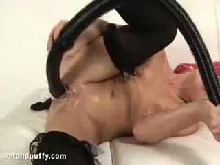 quality brunette check, nice toys hq, masturbation quality