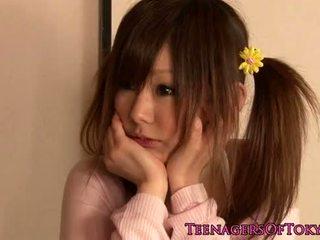 søt, unge, japanese