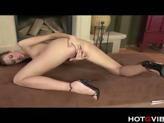 Crazy Sexy Brunette Fingers that Pussy, Porn 9e