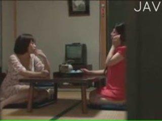 japanisch, gruppen-sex, große brüste