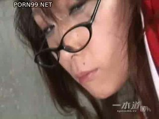 japanse, een pussyfucking klem, heetste bril mov