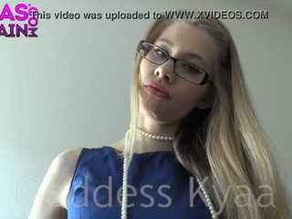 ideaal blondjes, bril video-, vernedering film