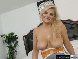 Katy gets a Taste of an American Creampie: Free HD Porn 35