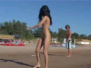 ideaal strand kanaal, meer eigengemaakt, een publiek thumbnail