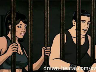 Archer 헨타이 - 교도소 섹스 와 lana