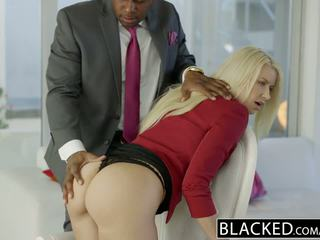 Blacked 業務 金發 anikka albrite 屁股 性交 由 一 bbc