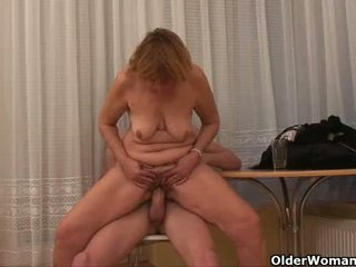 Grandma wants your cum on her old tits
