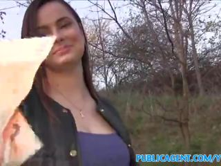 Publicagent Big Tits Babe Fucked in Forest