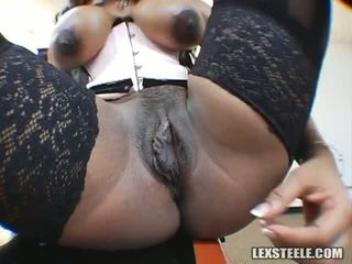 Ayana Angel Puts On A Show And Gets Double Penetration