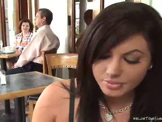 groot zoenen video-, meisje op meisje, u lezzy