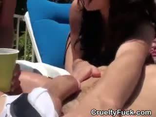 online brunette porno, pijpbeurt video-, gangbang porno