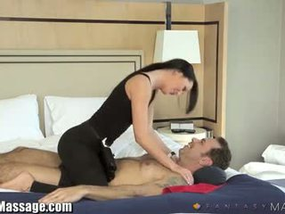 Travelling Businessman`s Erotic Hotel Massage