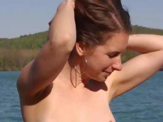 online strand, mooi grote natuurlijke tieten film, heet vrouw