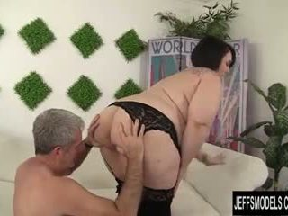 Cute and chubby plumper Alexxxis Allure fucking a fat cock.