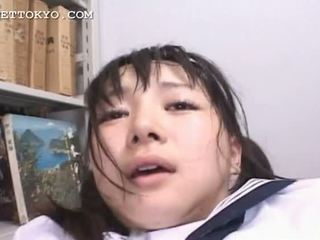Censored - Asian schoolgirl squirts and gets a facial i