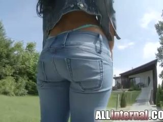 Athinas pussy is fucked and gets creampie