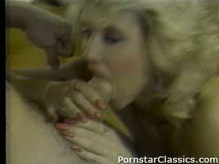 blondinen, blowjob, jahrgang, pornostar