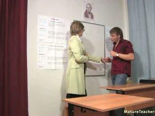 Russian mature teacher 8 - Olga 02 (math lesson)