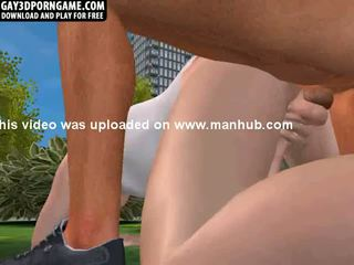 Some sexy anal sex is happening in the park