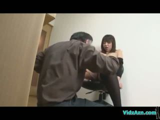 Busty Asian Girl In Black Lingerie Getting Her Pussy Fingered And Licked Sucking Man On The Floor In The Room