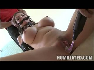 Erotic hot June Summers gets her mouth plugged with a massive errect cock
