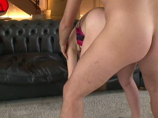 Lusty whore gets dildo fucked before threesome session