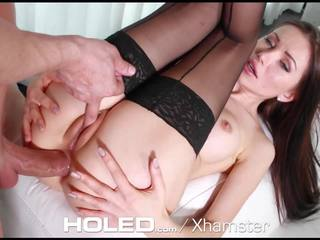 Holed Petite Sasha Rose Toys Her Tight Ass Before Anal