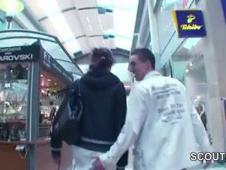 Young Czech Teen fucked in Mall for Money by 2 German Boys