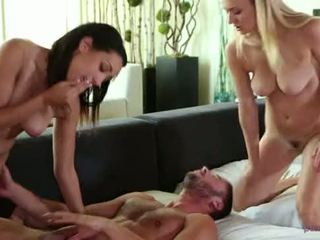 free threesome, natalia rated, starr all