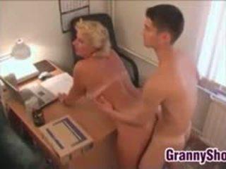 Chubby Grandma Fucking In Her Office